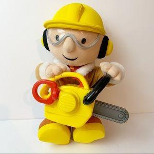 Bob The Builder Lumberjack Interactive Electronic Talking Plush 13 Inches Talks